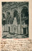 1898 Budapest V. Igazságügyi Palota, lépcsőház, belső
