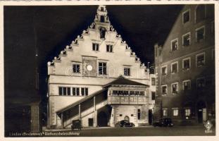 Lindau town hall at night, Lindau városháza éjjel