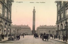Paris, Place Vendome / square, monument, automobile, hotel