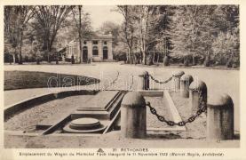 Rethondes, emplacement du Wagon du Marechal Foch inaugure / monument