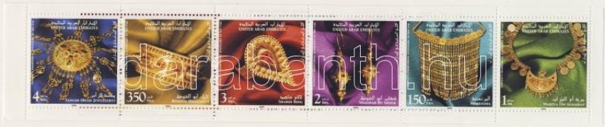 Jewels stamp booklet, Ékszerek bélyegfüzet, Damenschmuck Markenheftchen