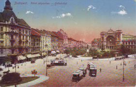 Budapest VII. Keleti Pályaudvar, villamos, Radnai Sándor üzlete