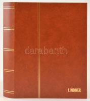 LINDNER Berakó 1169 24 fekete lap/ 48 oldal piros 230x305mm