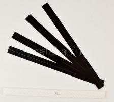 Hawid 1321, black, 385 x 22 mm 20 pieces, Hawid filacsík, fekete, 385 x 22 mm, 20db/csomag HA1321, hawid Klemmtaschen Streifen für Rollenmarken 385 x 22 mm, schwarz, 20 Stück