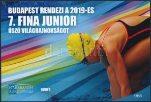 2019 Budapest rendezi a 2019-es 7. FINA Junior úszó VB-t emlékív