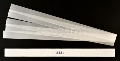 hawid Strips for coil strips 385 x 22 mm, crystal clear - pack of 20, HA2321 filacsík 385 x 22 mm, víztiszta, 20db/ csomag, hawid Klemmtaschen Streifen für Rollenmarken 385 x 22 mm, glasklar, 20 Stück