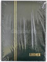 LINDNER Stockbook 1158, 8 white sheets green165x220 mm, LINDNER kis berakó A5-ös méretben, 1158 - 8 fehér lappal zöld, 165x220 mm, LINDNER Einsteckbuch 1158, 8 weiss blatter grün, 165x220 mm