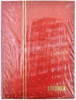 LINDNER Stockbook 1158, 8 white sheets red 165x220 mm, LINDNER kis berakó A5-ös méretben, 1158 - 8 fehér lappal piros, 165x220 mm, LINDNER Einsteckbuch 1158, 8 weiss blatter rot, 165x220 mm