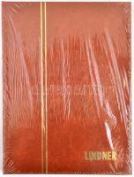 LINDNER Stockbook 1158, 8 white sheets brown 165x220 mm, LINDNER kis berakó A5-ös méretben, 1158 - 8 fehér lappal barna, 165x220 mm, LINDNER Einsteckbuch 1158, 8 weiss blatter hellbraun, 165x220 mm