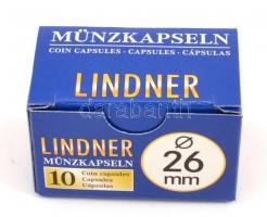 Lindner coin capsules 26 mm, Lindner érmekapszula 26mm 2250026P, Lindner Münzenkapseln 26 mm