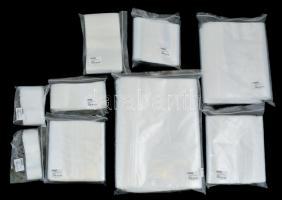 Poly bags, 70 x 100 mm - pack of 100, simítózáras zacskó 70x100 mm, 100 db/csomag (782), Polybeutel, 70 x 100 mm, 100er-Packung