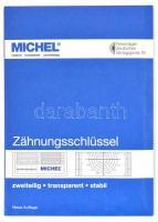 perforation gauge, Michel fogazatmérő, átlátszó, műanyag, Zähnungsschlüssel