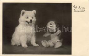 Dog with toy dog, Kutya játékkutyával