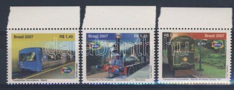 Rail vehicles margin set, Vasúti szállítás ívszéli sor, Schienenverkehrsmittel Satz mit Rand