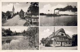 Rheinau - Diersheim with Rappen guest house and steam ship, Rheinau - Diersheim a Rappen vendégházzal és gőzössel