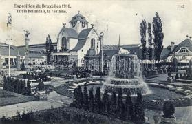 Brussels Expo 1910, Dutch garden, fountain, Brussels kiállítás 1910, holland kert, szökőkút
