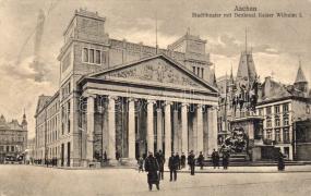 Aachen theater, Wilhelm I monument, Aachen színház, I. Vilmos emlékmű