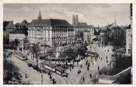 München Sendlinger Tor square with synagogue, München Sendlinger Tor tér zsinagógával