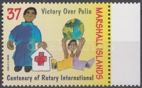 100th anniversary of Rotary margin stamp, 100 éves a Rotary ívszéli bélyeg, 100 Jahre Rotary Marke mit Rand