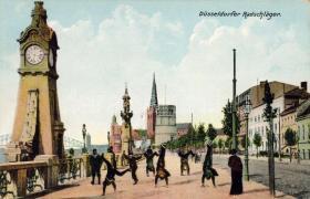 Düsseldorf, cartwheel, Düsseldorf, cigánykerekező emberek