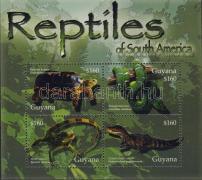 Reptiles minisheet, Hüllők kisív, Reptilien Kleinbogen