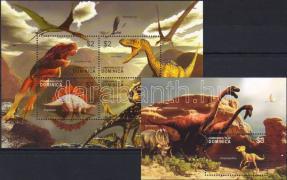 Prehistoric animals III minisheet+block, Ősállatok III kisív+blokk, Prähistorische Tiere III Kleinbogen+Block
