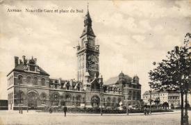 Antwerp, railway station, Antwerpen, vasútállomás