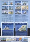 Ships corner set + minisheet set + blocks, Hajók ívsarki sor + kisívsor + blokkok, Schiffe Satz mit Rand + Kleinbogensatz + Blöcke