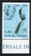 Visit of Benedict XVI. to the UN margin stamp, XVI. Benedek pápa az ENSZ-ben ívszéli bélyeg, Besuch von Papst Benedikt XVI. bei der UNO Marke mit Rand