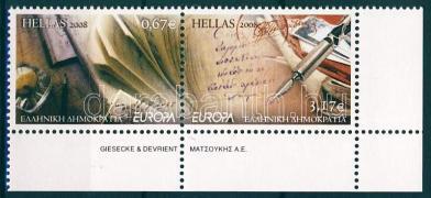 Europa CEPT Der Brief Paar mit Rand, Europa CEPT a levél ívsarki pár, Europa CEPT the letter corner pair