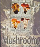 Mushrooms minisheet, Gombák kisív, Pilze Kleinbogen