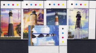 Lighthouses corner stamps, Világítótornyok ívsarki bélyegek, Leuchttürme Marken mit Rand