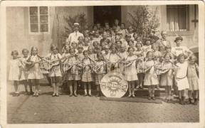 Children, band, Weidemilch advertisement, group photo, Gyermek zenekar, Weidemilch reklám, photo