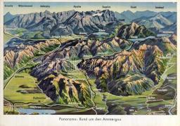 Ammergau, hegyvidék, Ammergau, mountains