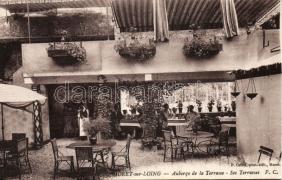 Moret-sur-Loing, Auberge de la Terrasse / hotel, terrace