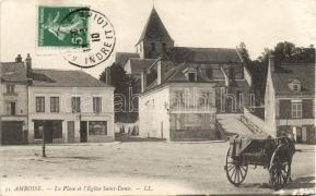 Amboise, La Place, Eglise Saint Denis / square, church