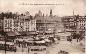 Lille, Grand Place, Pierot Patisserie, Ala Desse  / square, market, confectionery, autobus