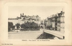 Verdun, Place Chevert, Rue de l'Hotel-de-Ville / square, street, hotel, automobile