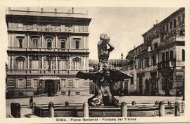 Rome, Roma; Piazza Barberini, Fontana del Tritone / square, fountain