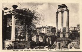 Rome, Roma; Foro Romano, Colonne di Castore e Polluce, Tempietto di Vesta / square, columns, temple