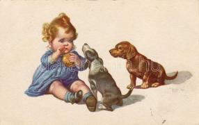 Gyerek kutyákkal, Child with dogs