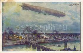 The Airship bombarding Warsaw s: Hans Rudolf Schulze, A léghajó Varsót bombázza s: Hans Rudolf Schulze