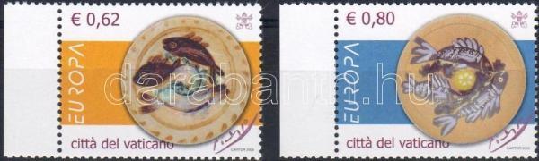 Europe CEPT gastronomy margin set, Európa CEPT gasztronómia ívszéli sor, Europa CEPT Gastronomie Satz mit Rand