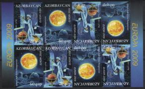Europa CEPT Astronomie Heftchenblatt, Europa CEPT Csillagászat bélyegfüzetlap, Europa CEPT Astronomy booklet sheet