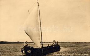 Vitorlás a Visztulán, Hertelendy László kapitány, Sailing boat on the Vistula, sailing-master László Hertelendy