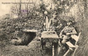 Első világháború, bejárat a lövészárokhoz, Military WWI, entrance to the trench