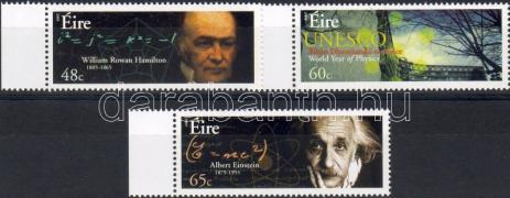 Year of phisics: UNESCO, Hamilton, Einstein margin set, A fizikai éve: UNESCO, Hamilton, Einstein ívszéli sor, Internationales Jahr der Physik: UNESCO, Hamilton, Einstein Satz mit Rand