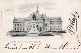 Brno, Deutsches Haus, II. József szobor, Brno, Deutsches Haus, statue of Josef II