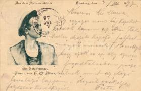 1897 Hamburg, Ratsweinkeller, matrózfiú, pinx. Christian Wilhelm Allers, 1897 Hamburg, Ratsweinkeller, sailor boy, pinx. Christian Wilhelm Allers
