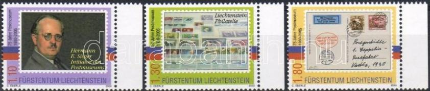 75th anniversary of post museum margin set, 75 éves a postamúzeum ívszéli sor, 75 Jahre Postmuseum Satz mit Rand
